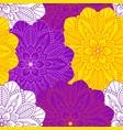 mandala floral seamless pattern vector image vector image