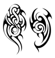 Maori style tattoo shapes set vector image vector image
