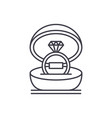 marriage ceremony line icon concept marriage vector image vector image