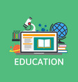 online education and training e-learning concept vector image vector image