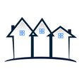 real estate townhouse community icon logo vector image