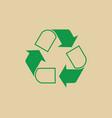 recycle symbol green arrows logo web icon vector image vector image