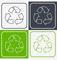 recycled paper symbol vector image vector image