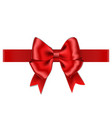 red bow with ribbon isolated on white background vector image vector image