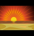red sunset vector image