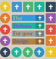 religious cross Christian icon sign Set of twenty vector image