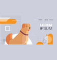 retriever icon cute dog labrador furry human vector image vector image