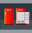 retro fridge vector image