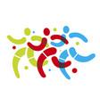 running for health jogging symbol vector image vector image