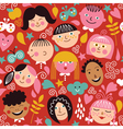 Seamless pattern with children vector image vector image
