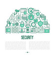 security and protection concept in half circle vector image vector image