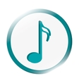 semiquaver musical note icon vector image