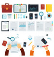 set devices and business tools flat vector image vector image