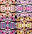 Set of traditional ornamental paisley bandanna vector image vector image