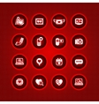 set valentines day icons love on internet sign vector image vector image