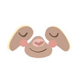 sloth face vector image vector image