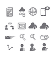 Social media icons eps vector image vector image
