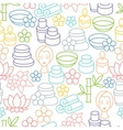 Spa and recreation seamless pattern with icons in vector image vector image