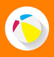 summer colored rubber inflatable beach ball beach vector image vector image