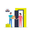 sushi delivery service vector image