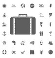 tourism set icons vector image