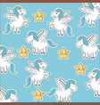 Unicorn stars decoration magic animal wallpaper