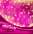 Valentines background with beautiful hearts vector image vector image