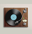 vintage record player with retro vinyl disc vector image vector image
