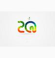 zq z q rainbow colored alphabet letter logo vector image vector image