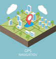 GPS isometric Isometric town map vector image