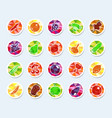 fruit and vegetables icons vector image