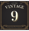 Alphabet Font Number with Classy Stylish vector image vector image