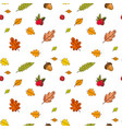autumn seamless pattern background colorful leaves vector image vector image