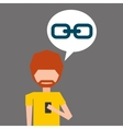 avatar smartphone link social media vector image vector image