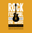 banner for rock festival of live music vector image