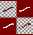 banner ribbon sign bordo and white icons vector image