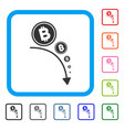 bitcoin deflation trend framed icon vector image vector image