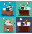 Businessman at Work Businesswoman in Office vector image vector image