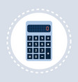 calculator icon financial accounting device vector image