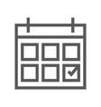 calendar line icon vector image vector image
