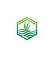 cannabis leaf icon design logo vector image vector image