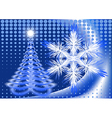card with snowflake in blue vector image vector image