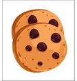 Chocolate chip cookie cartoon vector image