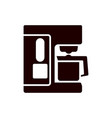 coffee glyph icon and appliance vector image vector image