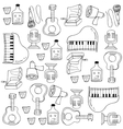 Doodle of music set vector image