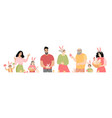 easter family picture vector image vector image