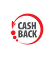 emblem cash back vector image vector image
