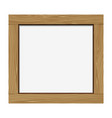 Empty notice wooden board vector image vector image