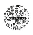 first communion symbols for a nice invitation vector image vector image