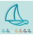 Flat design sailboat vector image vector image